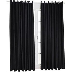 Domosecret Block Colour Blackout Lined Curtains - 5 Colours & 3 Sizes Home Accessories
