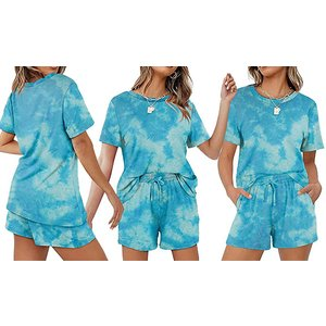 Domosecret Casual Solid Colour T-shirt & Shorts Set - 6 Colours & 5 Sizes Clothing Accessories