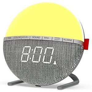 Bag A Bargain Colour Changing Night Light Alarm Clock - With Nature Sounds! Home Accessories
