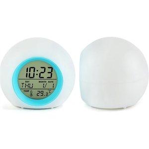 Domosecret Colour-changing Led Digital Alarm Clock - 6 Colours Home Accessories