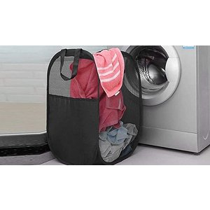Domosecret Foldable Mesh Laundry Basket With Handles - 2 Colours Home Accessories