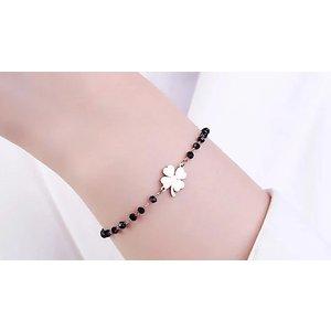 Momo Jewells Four-leaf Clover Onyx Stone Bracelet - 3 Colours Mens Jewellery