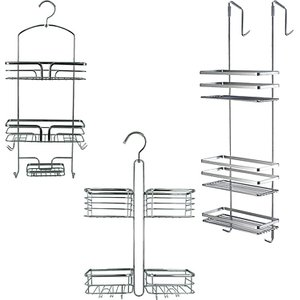 Advanced Global Productions Ltd Hanging Chrome Plated Steel Shower Caddies - 3 Designs Home Accessories