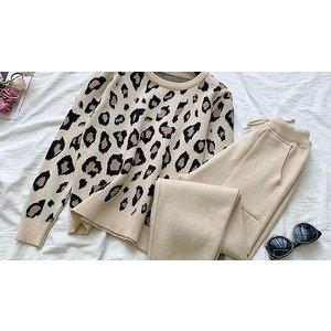 Domosecret Leopard Print Jumper & Joggers Set - 2 Colours & 4 Sizes Clothing Accessories