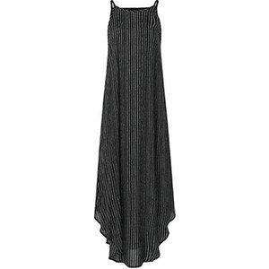 Domosecret Spaghetti Strap Pinstripe Asymmetric Maxi Dress - 3 Colours & 5 Sizes Clothing Accessories