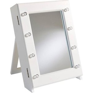 Furniture Dealz Table Top Hollywood Mirror Jewellery Cabinet Home Accessories