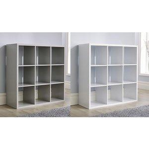 Furniture Dealz White Or Grey 3x3 Cube Storage Unit Home Accessories