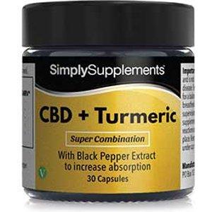 Simply Supplements Cbd-turmeric-black-pepper - Small E140 Vitamins & Supplements