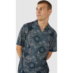 Red Herring Bandana Printed Revere Shirt Navy Clothing Accessories, navy