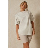 Misspap Beverley Hills Embroidered Oversized T-shirt Stone Clothing Accessories, stone
