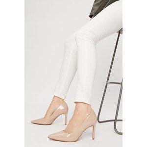 Dorothy Perkins Blush Patent Dash Court Shoe Shoes, blush