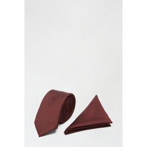 Burton Dark Burgundy Tie, Pocket Square Set Clothing Accessories, burgundy