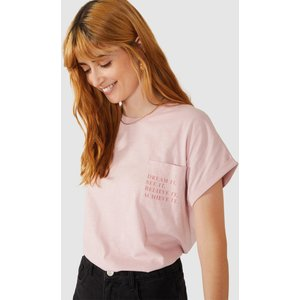 Red Herring Dream It Pocket Logo T-shirt Pink Clothing Accessories, pink