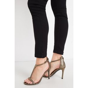 Lloyds Gold T-bar Barely There Sandal Shoes, gold