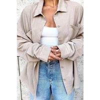 Misspap Fashion Oversized Acid Wash Shirt Mocha Clothing Accessories, mocha
