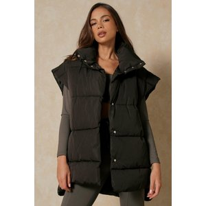 Misspap Oversized Boxy Puffer Gilet Black Clothing Accessories, black