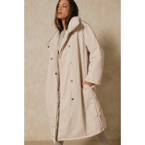 Misspap Oversized Maxi Duvet Coat Stone Clothing Accessories, stone