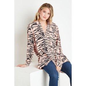 Wallis Pink Zebra High Low Shirt Clothing Accessories, pink