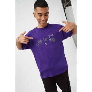 Burton Purple Relaxed Club La Mer Print T-shirt Clothing Accessories, purple
