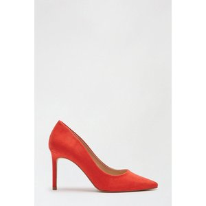 Dorothy Perkins Red Suedette Dash Court Shoe Shoes, red
