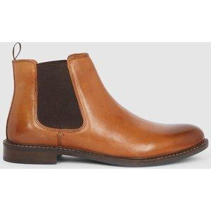 Debenhams Red Tape Bateman Leather Chelsea Boot Tan Shoes, tan