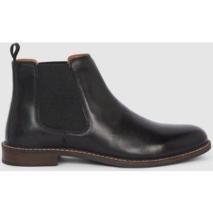Debenhams Red Tape Bateman Leather Chelsea Boot Black Shoes, black