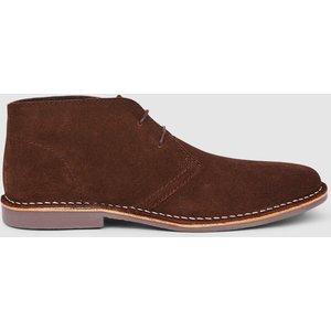 Debenhams Red Tape Gobi Suede Desert Boot Brown Shoes, brown