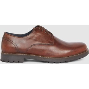 Debenhams Red Tape Risley Cleated Sole Leather Derby Tan Shoes, tan