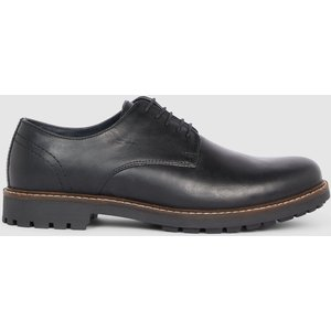 Debenhams Red Tape Risley Cleated Sole Leather Derby Black Shoes, black