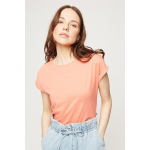 Dorothy Perkins Roll Sleeve T-shirt Coral Clothing Accessories, coral
