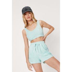 Nastygal Scoop Neck Bralette And Pocket Detail Shorts Set Mint General Clothing, mint