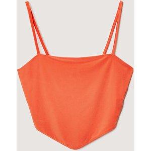18 Hour Slinky Spaghetti Strap Bandana Crop Top Orange Clothing Accessories, orange