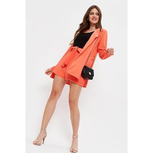 Dorothy Perkins Tall Tie Waist Belted Shorts Coral General Clothing, coral