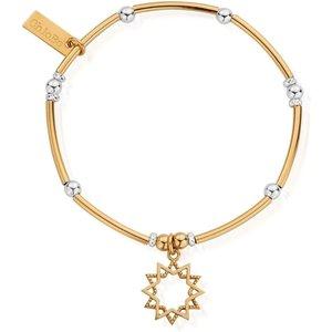 Chlobo Gmbmnbr1129 Women's Two Tone Wishful Soul Star Bracelet Gold Tone Womens Accessories, Gold Tone