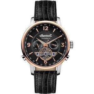 Ingersoll I00702b The Grafton Automatic Black Strap Wristwatch Mens Watches, Black