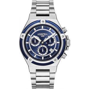 Roamer 221837 41 45 20 Tempomaster Chronograph Steel Bracelet Wristwat Silver Tone Mens Watches, Silver Tone