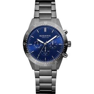 Rodania R20011 Men's Alpine Gunmetal Grey Bracelet Wristwatch Silver Tone Mens Watches, Silver Tone