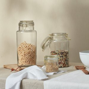 Layered Lounge Glass & Brass Storage Jars 38075065073817