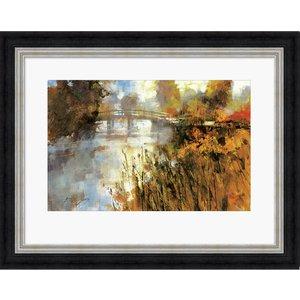 Bridge At Autumn Morning 60x80 Pagazzi Pfppr51070pg Home Accessories