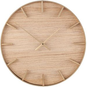 Round Wall Clock Gold/wood Pagazzi 75 209 Home Accessories