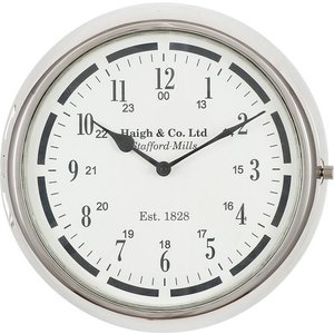Round Wall Clock P/nickel Pagazzi 75 190 Home Accessories