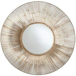 Round Wire Wall Mirror Gold Pagazzi 73 098 Go Home Accessories