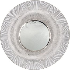 Round Wire Wall Mirror Silver Pagazzi 73 098 Si Home Accessories