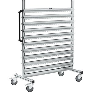 Eurokraftpro Aluminium Mobile Rack And Free-standing Shelf Unit M4954569