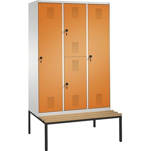 Cp Evolo Combination Cupboard, Single And Double Tier, With Bench M1144819