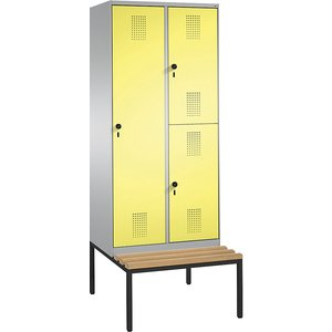 Cp Evolo Combination Cupboard, Single And Double Tier, With Bench M1144818