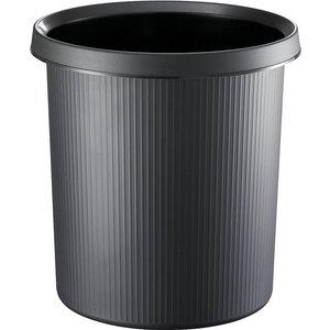 Helit Plastic Waste Paper Bin With Stripes M7249480