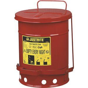 Justrite Safety Disposal Can Made Of Sheet Steel M12340