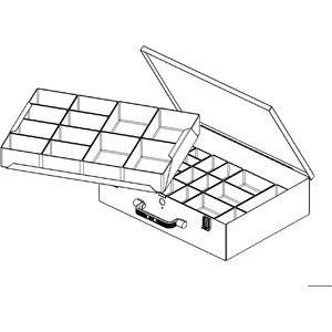 Eurokraftpro Small Parts Case Made Of Sheet Steel M88034
