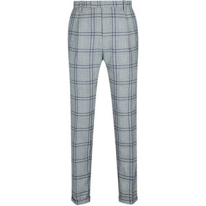 Mens 1904 Dalton Grey Tapered Graphic Prince Of Wales Check Trousers*, Grey Br49f06pgry 38s, Grey